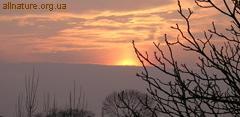 фото природа - закат солнца